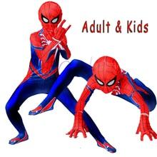 New Ps4 Insomniac Spiderman Costume Spandex Games Spider Man Superhero Cosplay Halloween Spider-man Costumes For Kids Boy Adult