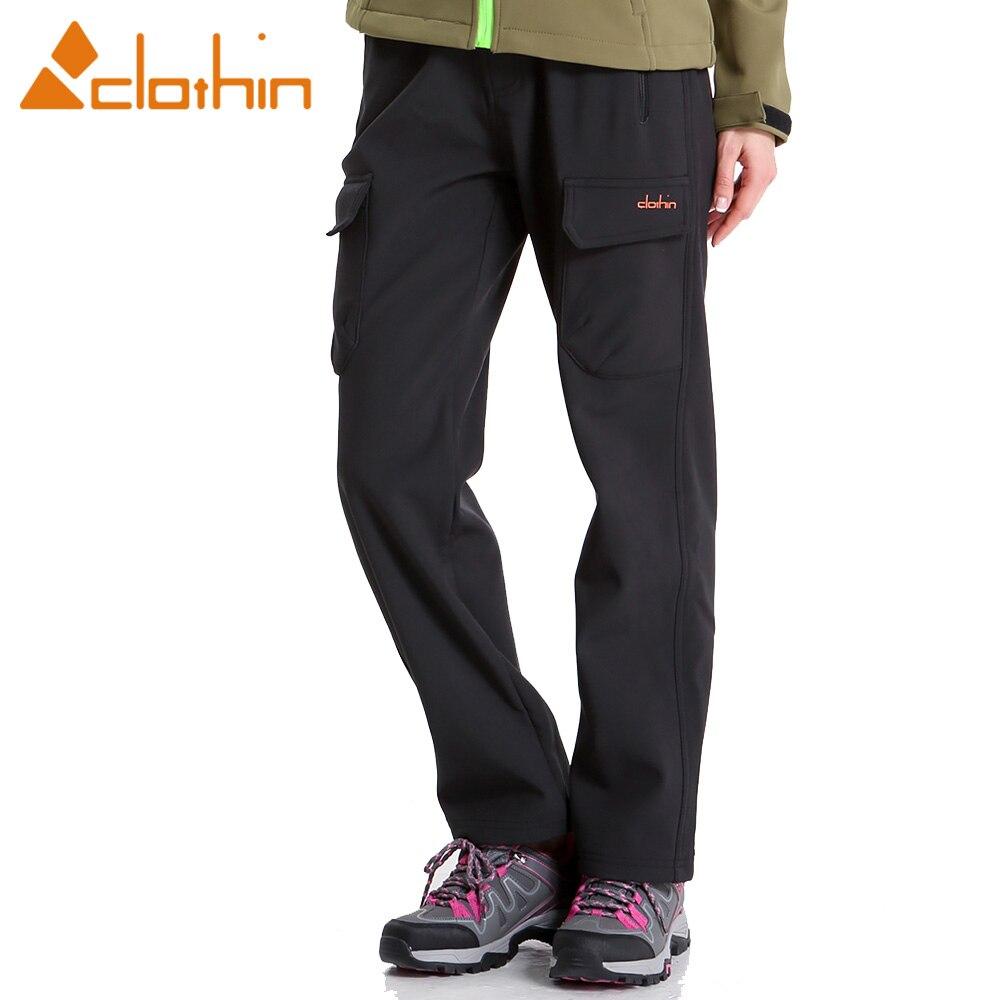 Clothin de Femmes En Plein Air Polaire Soft Shell Pantalon Pantalons De Ski De Neige-Élastique Waiste-Coupe-Vent et résistant à L'eau @ Regular Fit