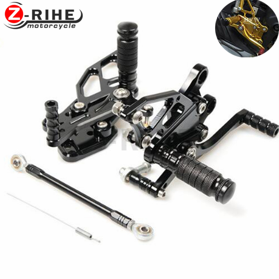 FOR Sale Motorbike CNC Adjustable Rider Rear Sets Rearset Footrest Foot Rest Pegs For Yamaha YZF R3 R25 2014 2015 2016 14 15 16 for yamaha yzf r125 2008 2013 aluminum cnc adjustable motorcycle rider rear sets rearset footrest foot pegs 2009 2010 2011