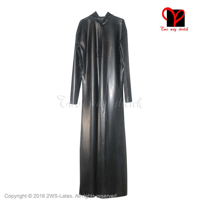 4e004dd11d9 ... Sexy Black Latex hood rain jacket hoodie coat Dressing Gown Rubber Top  cape poncho Trenchcoat Robe ...