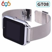 696 Z60 Смарт-часы GT08 Плюс Металлические Часы Bluetooth подключение Android телефон SIM TF карта уведомление о синхронизации Push сообщения PK S8
