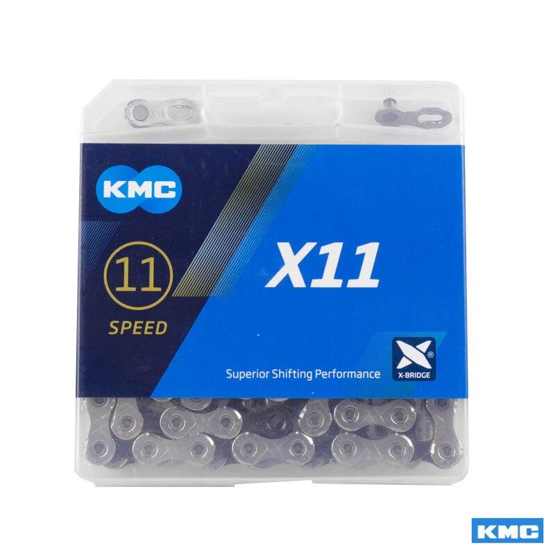 KMC 11 Geschwindigkeit Fahrrad Kette X11 X11EL X11SL MTB Rennrad X Brücke Trekking Pendeln Zyklus W/Original MissingLinks anschlüsse