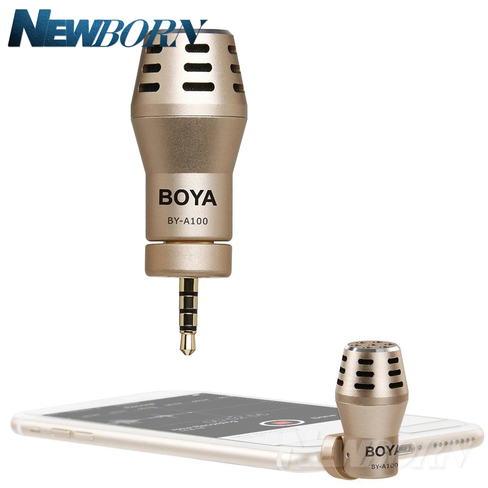 все цены на BOYA BY-A100 Omni Directional Condenser Phone Microphone for iPhone 6/6S/5/5S iPad iPod Android Samsung S6 S5 S4 HTC онлайн
