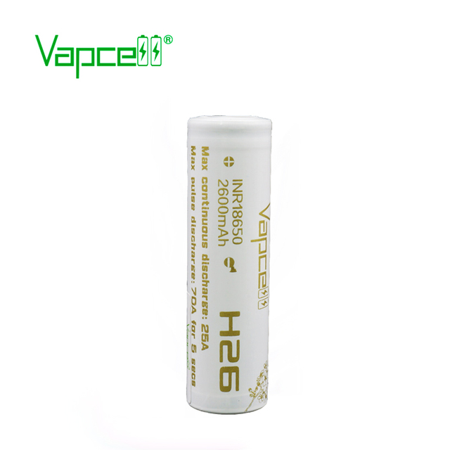 1 dollar coupon Vapcell 18650 2600mAh 25A Rewrap molicel p26a H26 beats VTC5A equal VTC6A / 20S li-ion rechargeable battery