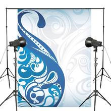 Delicate Pattern White Background Photography Flower Backdrops Art Photo Studio Props 5x7ft