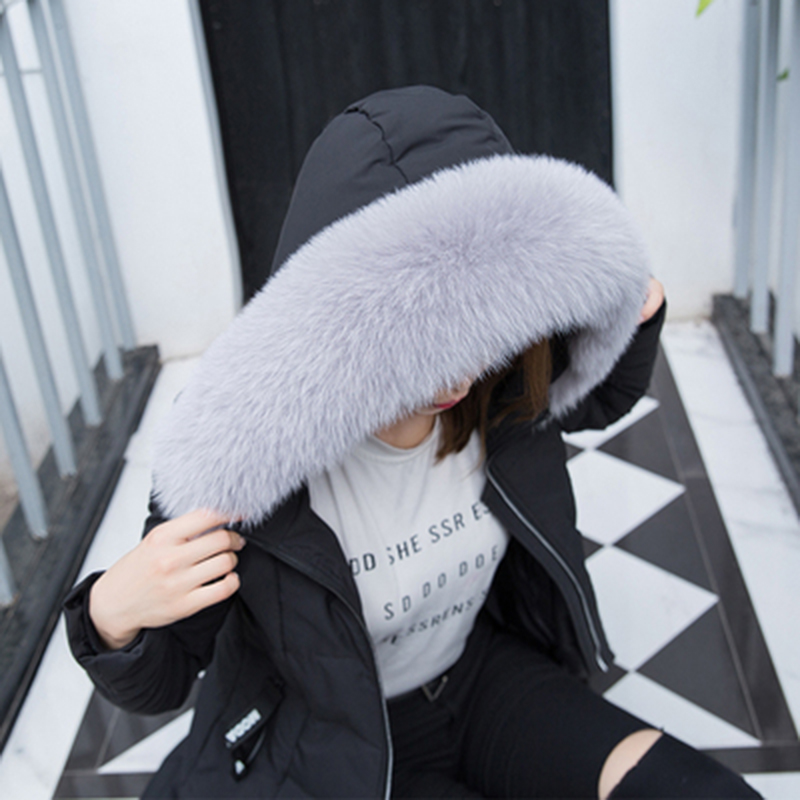 2019 New Women'S Leather Fur Collar Artificial Fox Fur Collar Multi-Color Shawl Collar Fur Female Fashion Autumn And Winter Warm