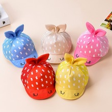 Cute Cartoon Printed Baby Caps Summer Hats For Infant Sun Hat With Ear 2017 Sunscreen Baby Girl Hat Spring Baby Accessories Cap-in Hats & Caps from Mother & Kids on Aliexpress.com | Alibaba Group