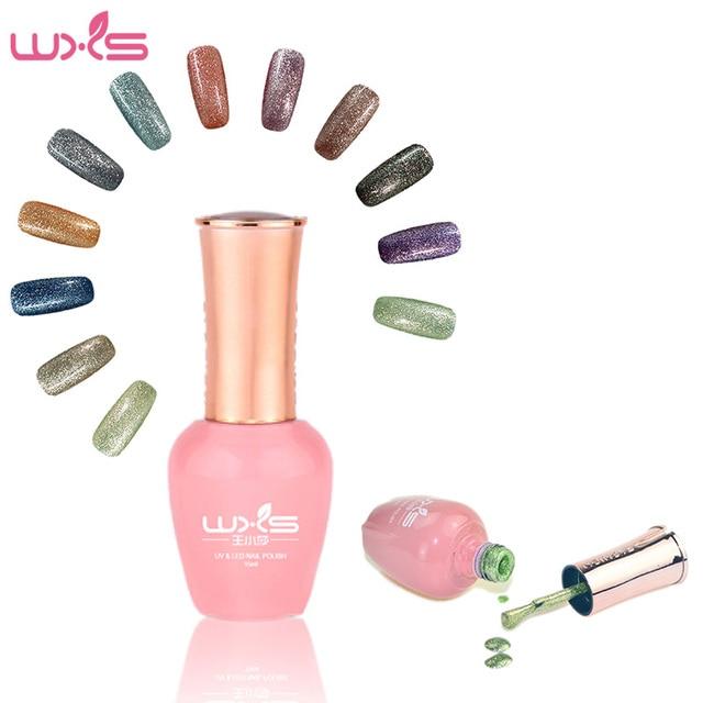 WXS 15 ml 12 Colores Francés Metálico Manicura Esmalte de Uñas de ...