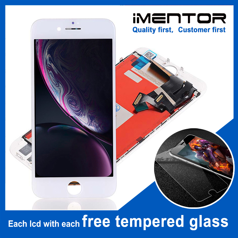 10pcs/lot TIANMA LCD for iphone 8 Plus 3d touch good free tempered glass 10pcs(China)