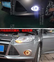 Osmrk New top quality led drl daytime running light angel eye with yellow turn signals or dimmer for ford focus 2012 2014 2015