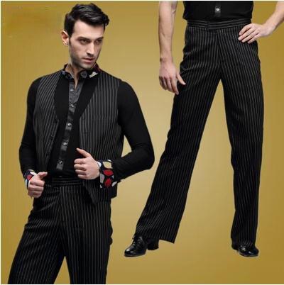 Herre latin dans kostume herre spandex Stripe latin dans bukser herre Rumba / Samba / Tango Cha Cha / Jazz Dance wear