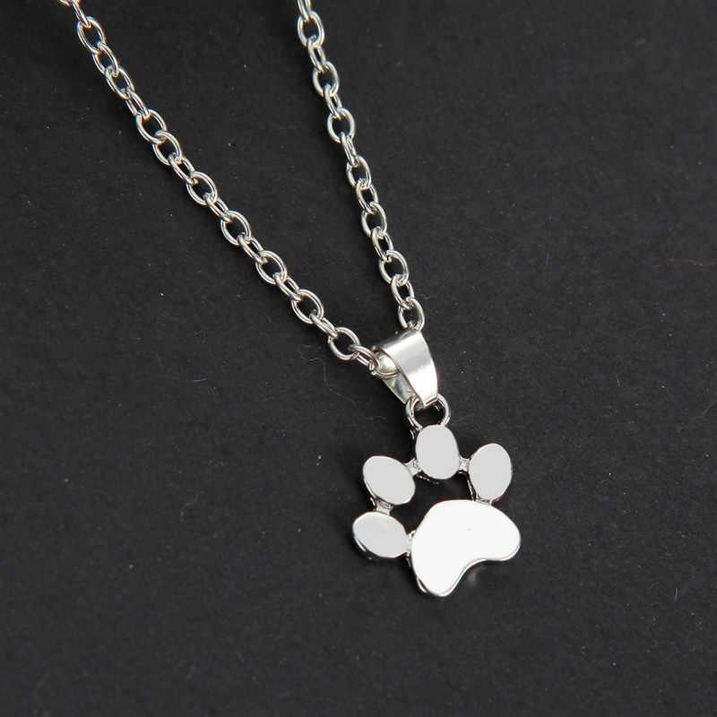 Collares y colgantes de cadena con huellas de zarpa para perros y Mascotas