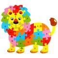 10 Padrões De Animais de Madeira Do Alfabeto Aprendizagem Precoce de Puzzle Para Crianças Crianças Educacional & Learing Brinquedos Inteligentes