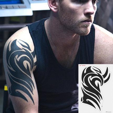3d Cool Men Fake Tattoos Black Ink Henna Tattoo Paste Flash Tattoo
