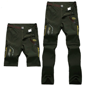 Image 1 - Full Removable Camping Hiking Pants Stretch Quick Dry Waterproof Trousers Outdoor Man Mountain Climbing/Fishing/Trekking Pants