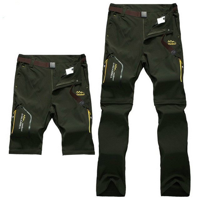 Full Removable Camping Hiking Pants Stretch Quick Dry Waterproof Trousers Outdoor Man Mountain Climbing/Fishing/Trekking Pants