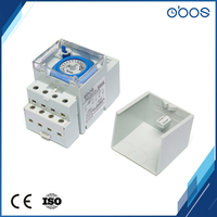 10 pcs cheap price time timer 220V AC din rail mechanical timer switch with 48 times on/off timing setting unit 30mins