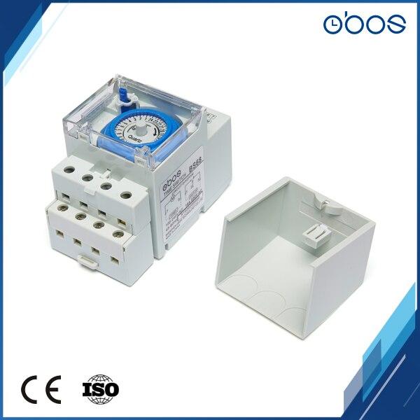 10 pièces pas cher prix minuterie 220 V AC din rail mécanique minuterie interrupteur avec 48 fois on/off chronométrage unité 30 minutes