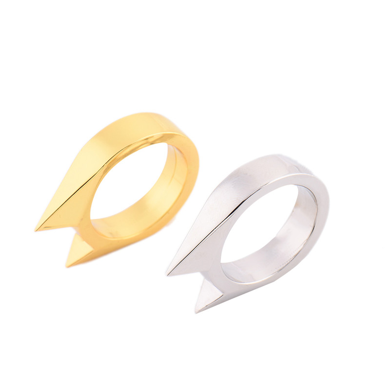 EDC Cats Ear Shape Ring Decoration Girls Portable Self-defense Self-protection Ring Supplies Pocket Tool Broken Windows tool