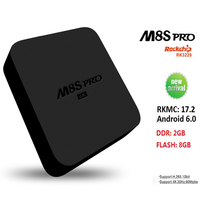 Hot selling M8S PRO Android 6.0 4 K Smart TV Box RK3229 2G Ram 8G Rom Met 2.4G WIFI Iptv Top Box PK MXQ RKMC 17.2 (KODI 17.2)