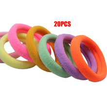 20 Pcs Girl Elastic Hair Ties Band Rope Ponytail Bracelet high quality female colorful elastic rubber band for hair    D20.15