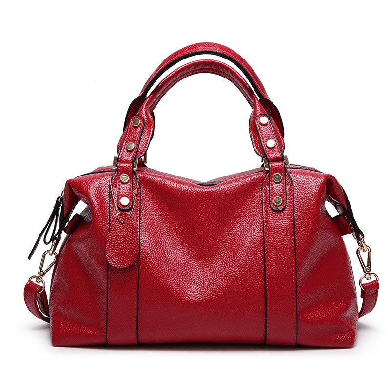 Populare All Match Women Handbag Red Blue Gray Black Female Totes with Sling Bag Function
