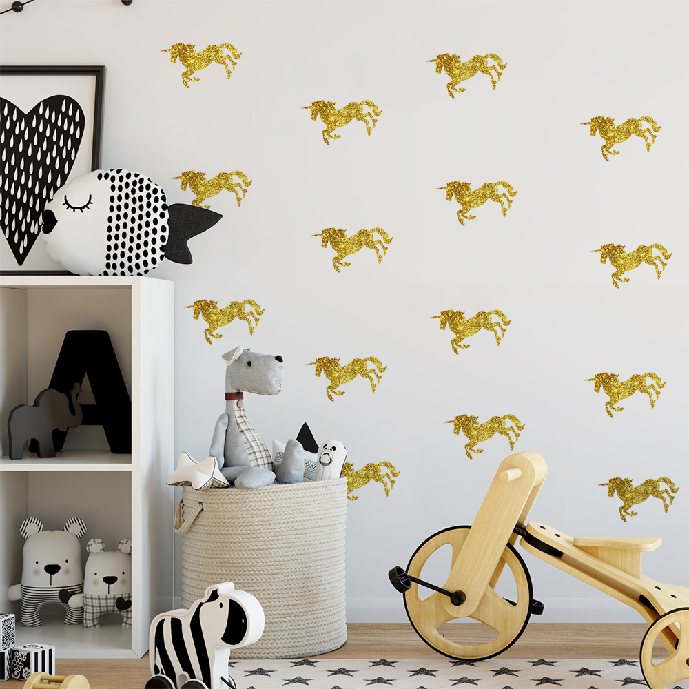 Funlife Unicorn Design Wall sticker Removable Wall Decals for Kid's Room Decoration