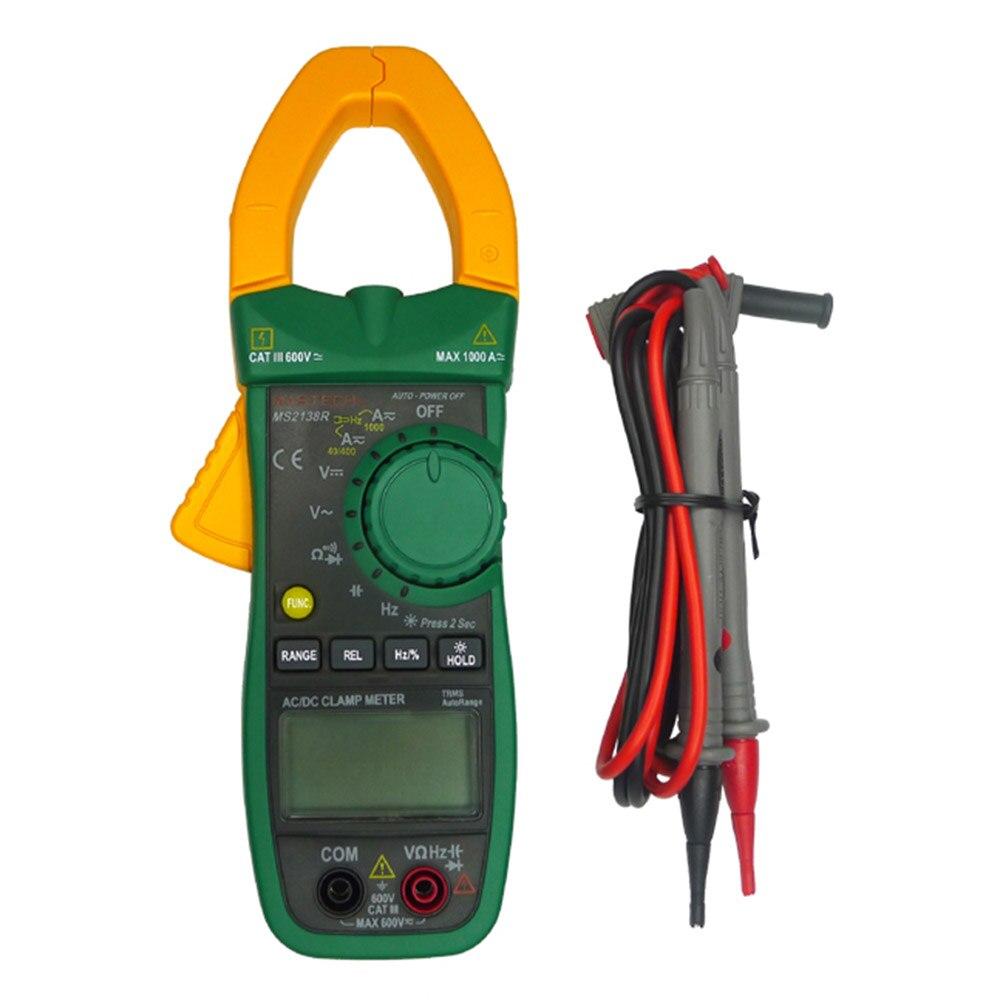 MASTECH MS2138R Numérique Pince Multimètre AC DC Pince Multimètre Multimètre 4000 Compte Tension Courant Résistance Capacité Testeur
