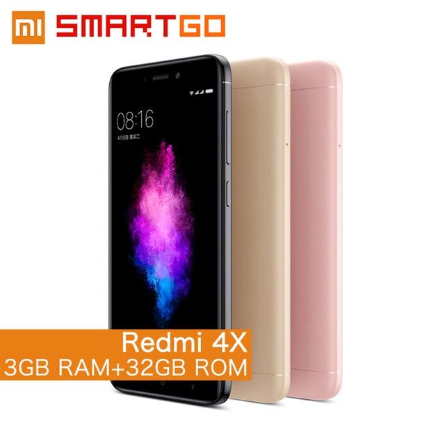 """Оригинальный Xiaomi Redmi 4x3 ГБ Оперативная память 32 ГБ Встроенная память мобильного телефона Snapdragon 435 Octa core 4 г LTE 5.0 """"HD 4100 мАч"""