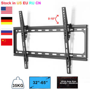 Wall-Mount-Bracket TV Fixing Tilting Plasma Universal 32--65-max-Support LED Ultra-Hd