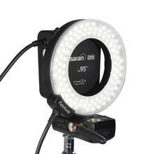 AHL-HC100 CRI 95 + Marco Led Ring Flash Led luz de vídeo Para A fotografia se encaixa para câmeras Canon flash led de luz