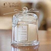 Creative Parfumée Anniversaire Mariages Bougies Amour Sans Flamme Bougies En Verre Titulaire Gâteau Aromathérapie Maîtresses De Mariage Décoration
