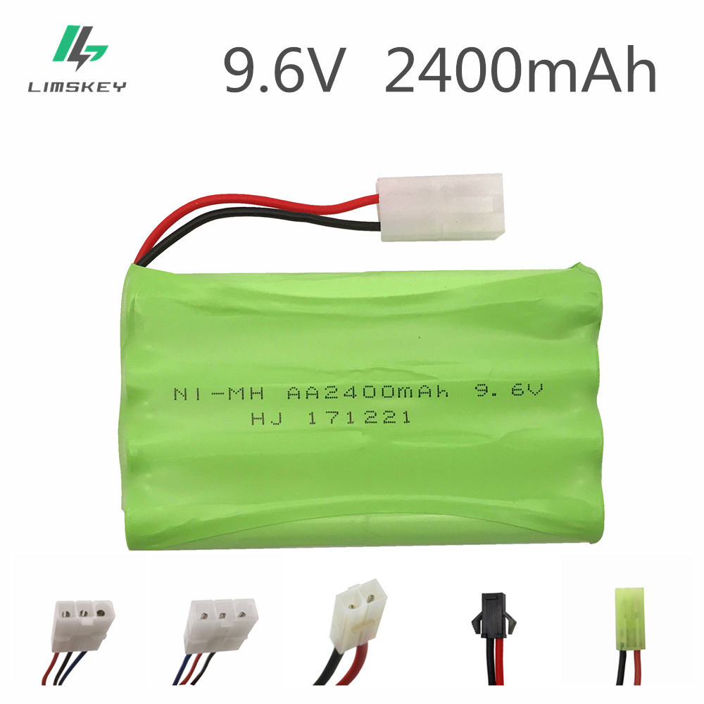 9.6V 2400mAh Remote Control Toys Electric Toy Security Facilities Electric Toy AA Battery Battery Group 2PIN/3Pin/T/JST Plug