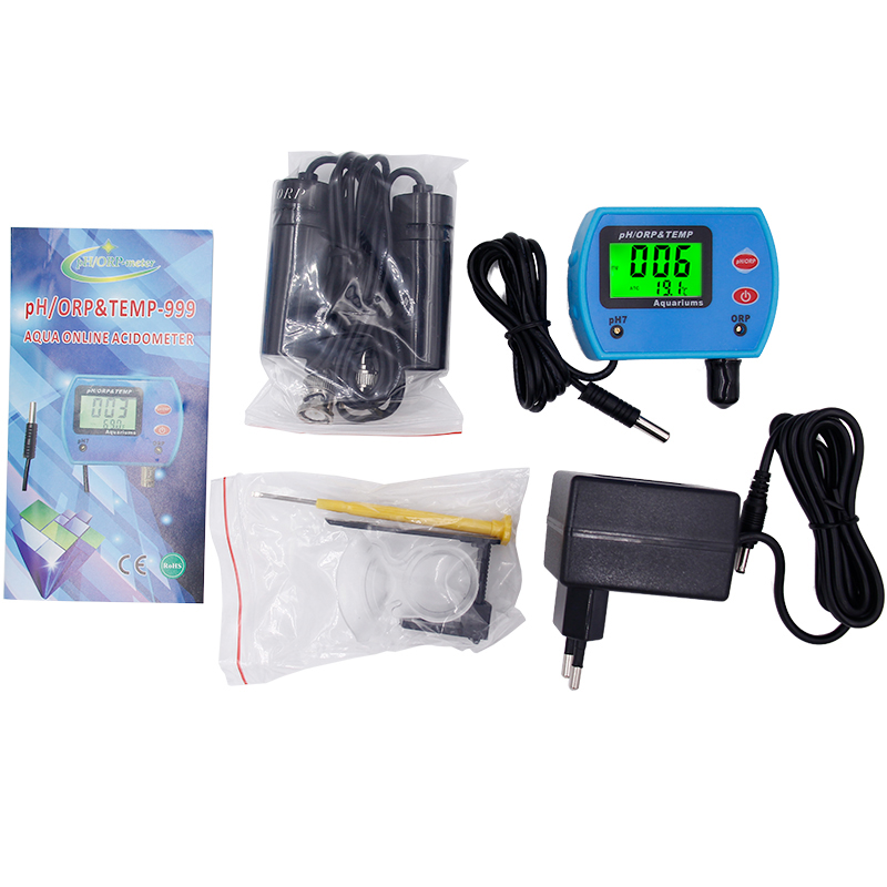 5pcs/lot by DHL Fedex Water Quality Monitor Online ORP temperature 3 in 1 pH tester meter Automatic temperature compensation aquarium ph meter high precision acidimeter drinking water quality tester analyzer temperature compensation function backlight