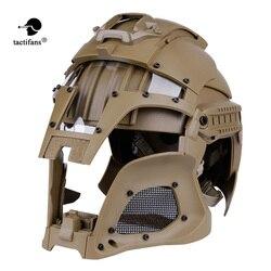 Táctifans táctico Paintball Medieval Iron Warrior casco integrado Rail NVG Shroud transferencia Base Dial pomo de combate Airsoft
