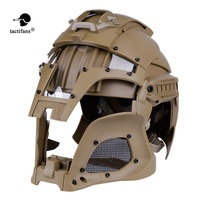 TACTIFANS Tactical Paintball Medieval Iron Warrior Helmet Integrated Rail NVG Shroud Transfer Base Dial Knob Combat Airsoft
