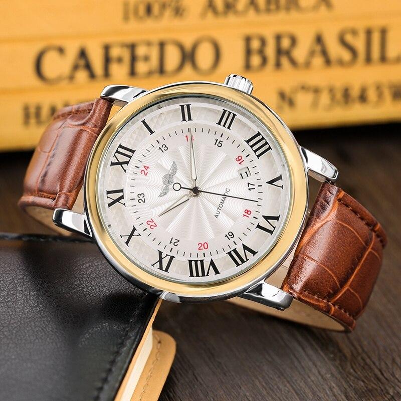 WINNER Watch Men Skeleton Automatic Mechanical Watch Gold Skeleton Vintage Man Watch Mens FORSINING Watch Top Brand Luxury Clock 2019 2020 2021 2022 2023 (16)