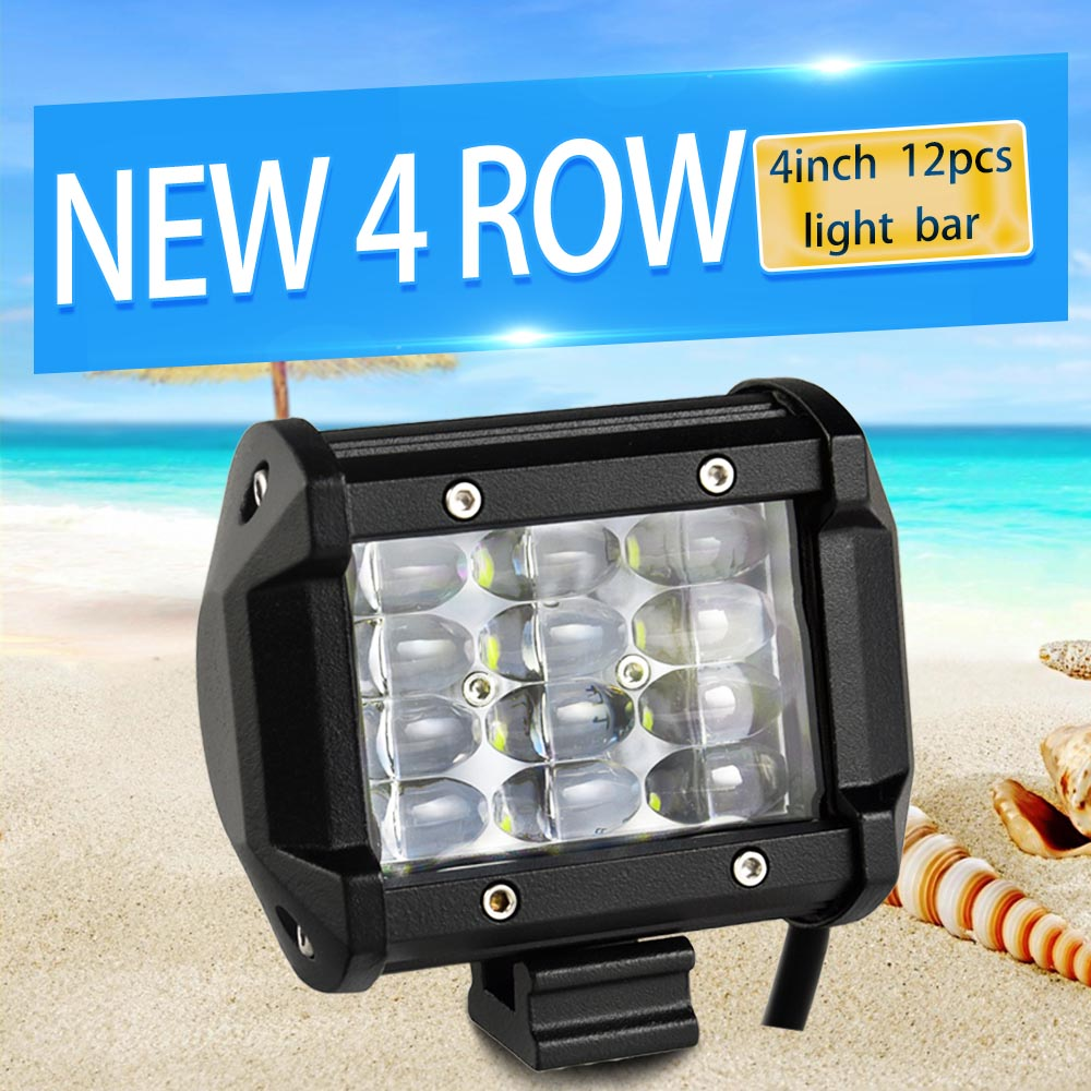 4 inch Led Work light Led Bar Rated 36W Actual 14W for Off Road 4x4 4WD ATV UTV SUV Driving Motorcycle Light Truck Led Light Bar