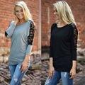Blusa De Renda Blusas Femininas 2017 Spring Tops Women Clothes Black Lace Blouse Shirt Women Blouses Vetement Femme Plus Size