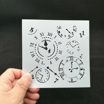 13*13 Clock pvc Layering Stencils for Diy scrapbook coloring,painting stencil,home decor diy etc. Product image