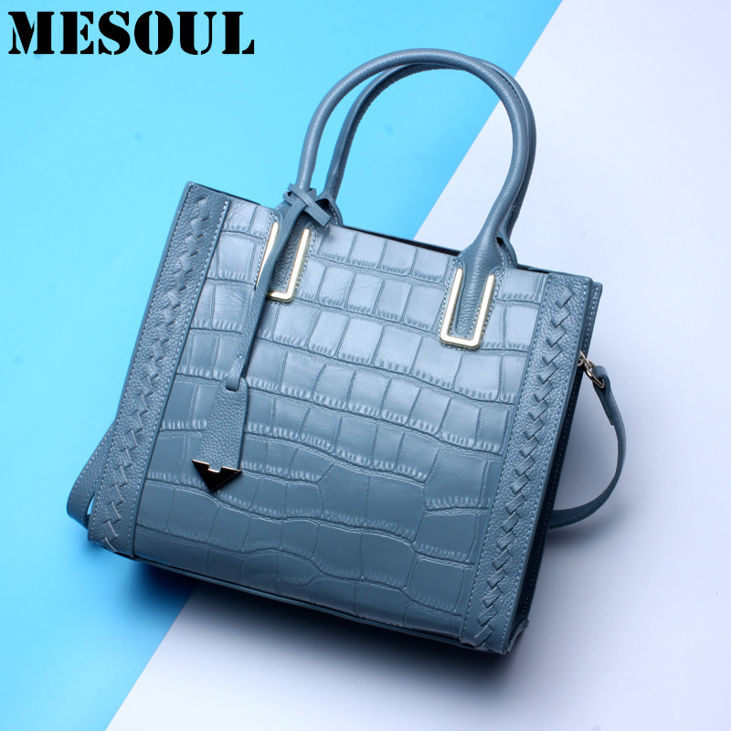 Summer Crocodile Pattern Handbag Women Genuine Leather Bag Crossbody Bags Female Luxury Alligator Cowhide Tote Hand Bag Ladies 2018 yuanyu 2016 new women crocodile bag women clutches leather bag female crocodile grain long hand bag