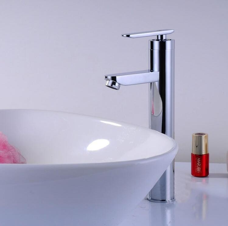 Good Quality Modern Promotion Chrome Finish Brass Deck Mounted Waterfall Bathroom Basin Faucet Sink Mixer Tap
