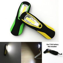 Super Bright COB LED Flashlight Torch Work Stand Light With Magnetic+Hook Powered By AA Battery For Outdoor Sports