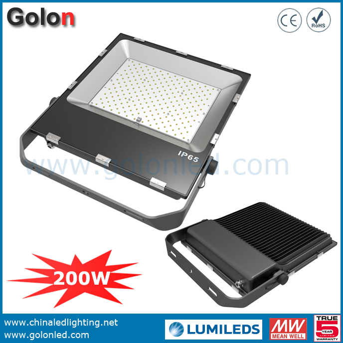 200w 5000k Flood Light With Lens: LED Lights For Padel Tennis Court 200W 5 Years Warranty