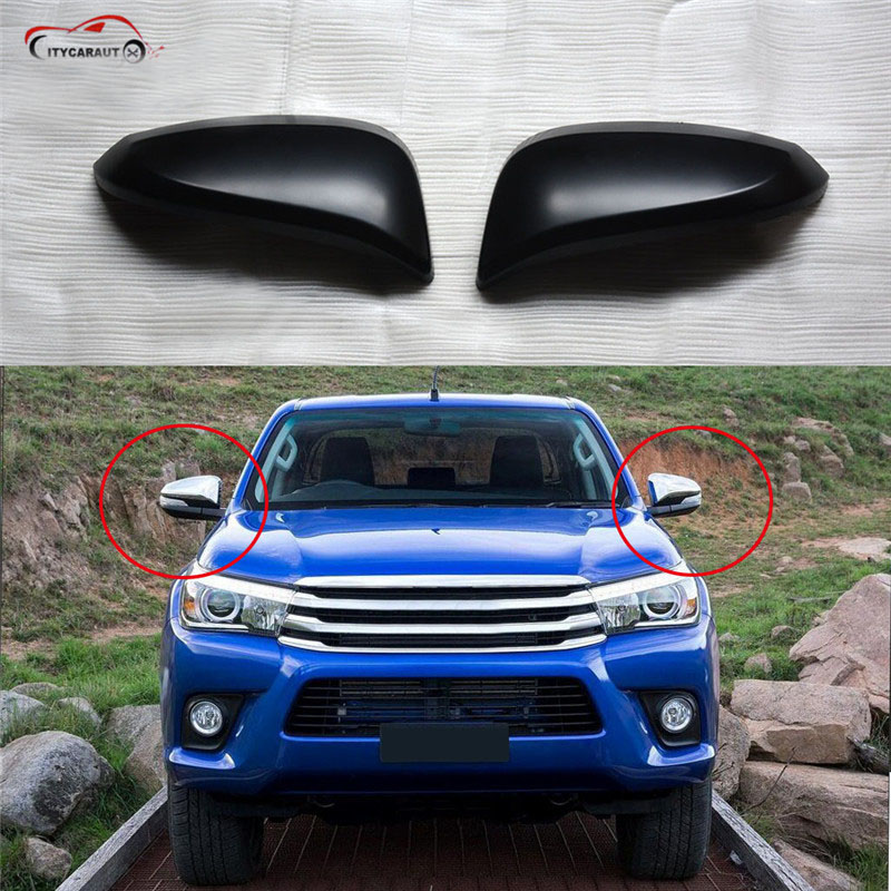 CITYCAR FOR 2015 2016 2017 HILUX revo body kit cover accessories rear view mirror cover back mirror cover hilux mirror lights