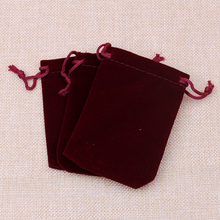 EMS Free Shipping !2000pcs New 7*9cm Jewellery Packaging Velvet Pouches Red With