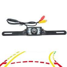 Variable Dynamic Trajectory Tracks Car Rear View Backup Camera For Universal NIGHT Car CCD CCD Rear View 7LED Camera