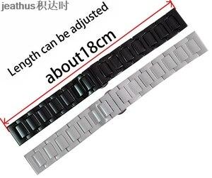 Image 2 - Jeathus cinturino cinturino bracciale in ceramica per le smart watch samsung gear S2 classico S3 frontier moto360 gen2 watch band 20 22 millimetri uomo