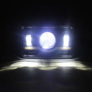 Image 5 - 4 шт. х черные 4X6 светодиодный лампы для фар 45 Вт для Kenworth H4 до H13 120/132 T400 T600