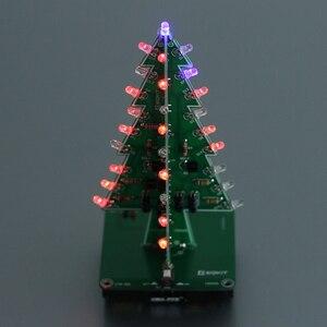 Image 3 - 5 個 7 色 3D クリスマスツリー LED フラッシュ DIY キット立体カラフルな RGB 回路キット電子楽しいスイートクリスマスギフト